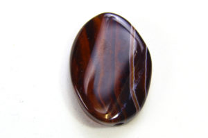 Red Banded Agate Oval Focal Bead
