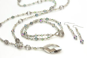 Coco Lariat Necklace Bracelet & Earrings