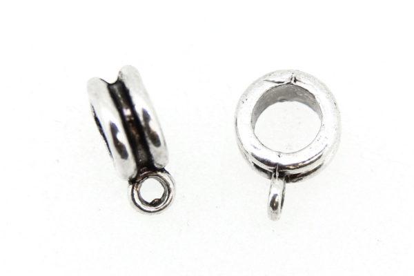 Silver Bevelled Hanger Bails