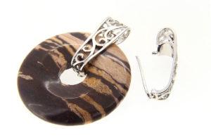 Silver Filigree Donut Bail
