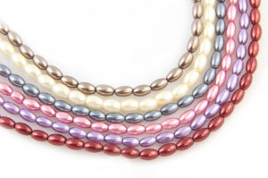 Oval Glass Pearls