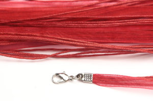 Ruby Silk Organza Ribbon Necklace