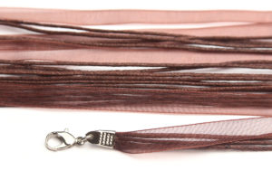 Saddle Brown Silk Organza Ribbon Necklace