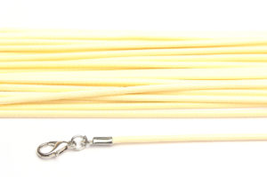 Cream Silky Cord Necklace