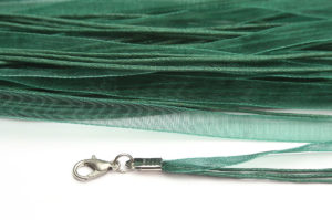 Emerald Silk Organza Ribbon Necklace