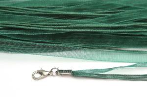 Emerald Silk Organza Ribbon Necklace