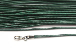 Deep Emerald Silky Cord Necklace