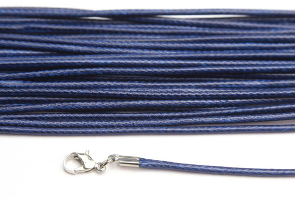Navy Blue Silky Cord Necklace