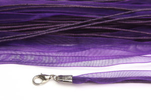 Deep Purple Silk Organza Ribbon Necklace