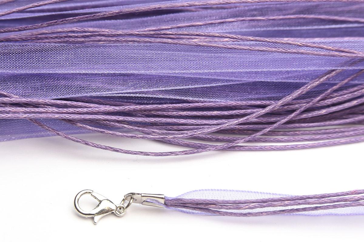 Lilac Silk Organza Ribbon Necklace