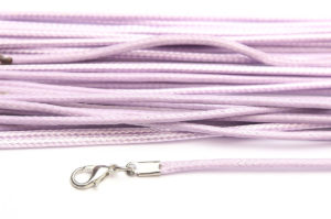 Light Lilac Silky Cord Necklace