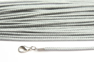 Silver Grey Silky Cord Necklace