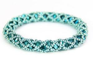 Aquamarine Hollywood Crystal Bangle