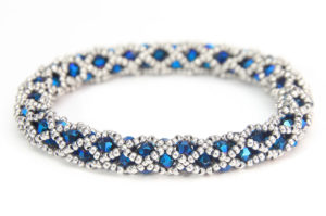 Santa Monica Blue Hollywood Crystal Bangle