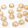 Crystal Gold Roses Preciosa Candy Beads