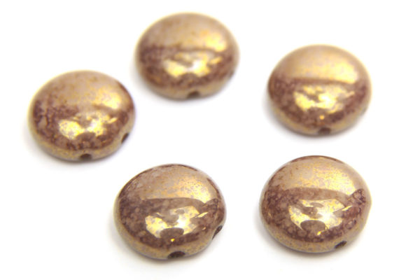 Gold Picasso Preciosa Candy Beads