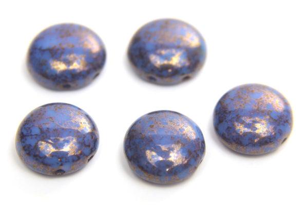 Blue Violet Picasso Preciosa Candy Beads