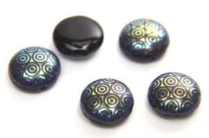 Midnight Gold Stencil Preciosa Candy Beads