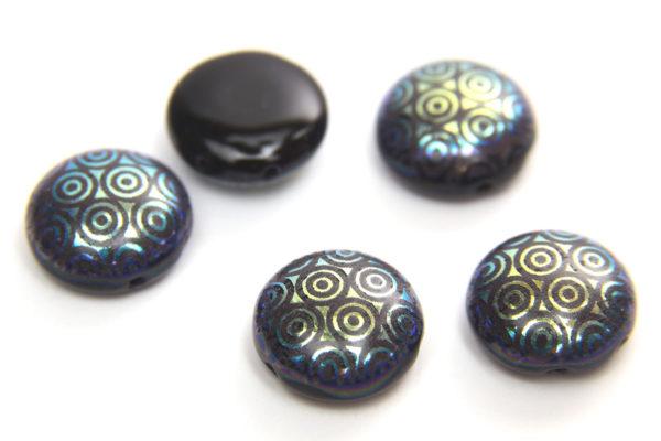 Midnight Gold Stencil Preciosa Candy Beads