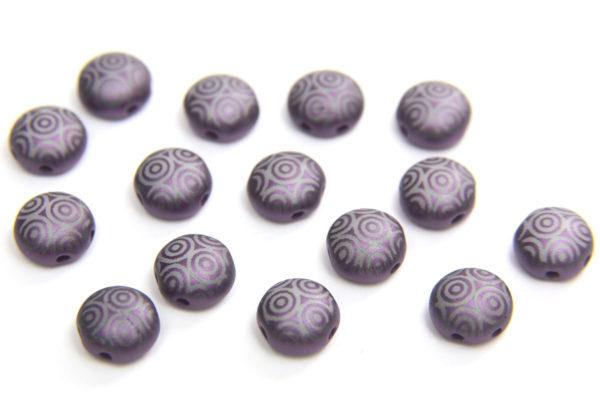 Violet Stencil Preciosa Candy Beads