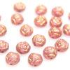 Blush Gold Roses Preciosa Candy Beads