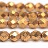 Metallic Gold Fire Polished