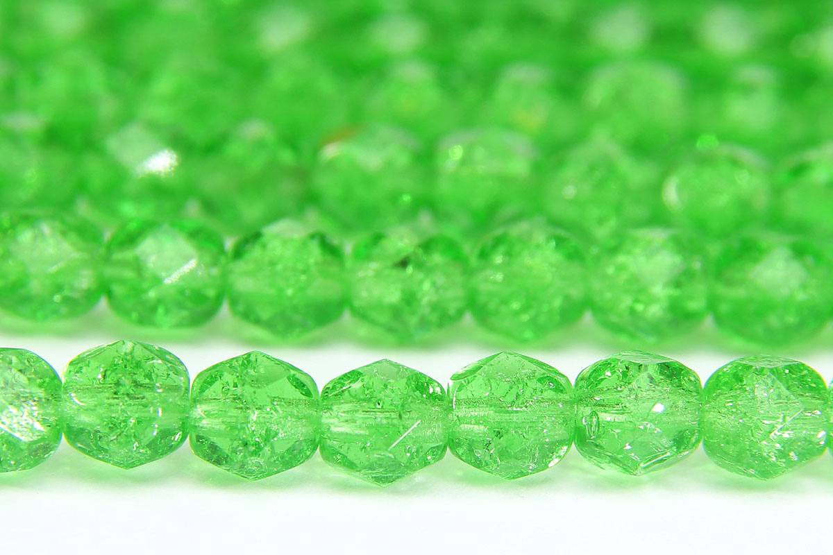 Cracked Lustre Lime Green Fire Polished