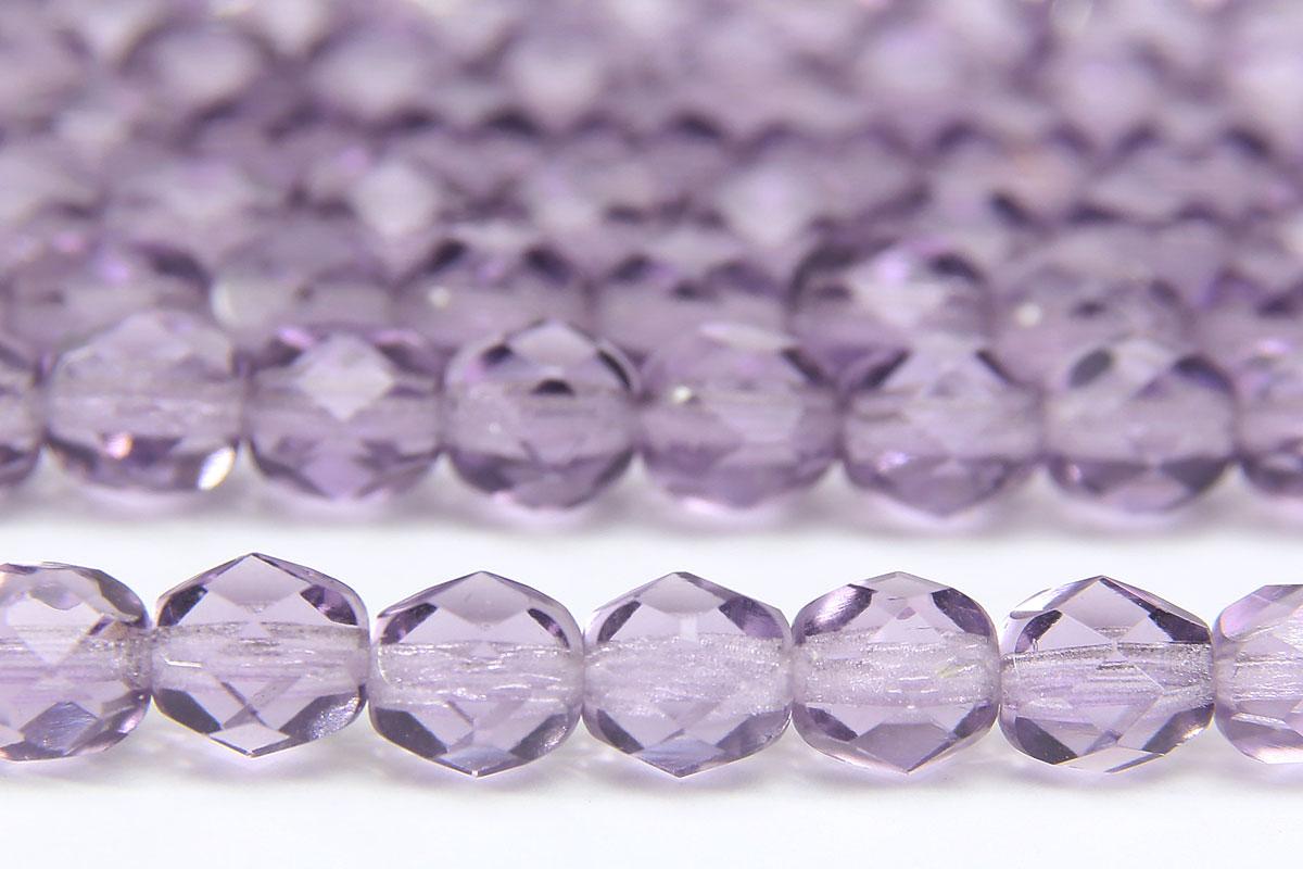Transparent Violet Fire Polished