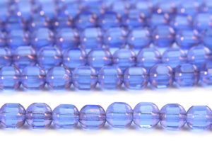 Lustre Blue Rounded Cathedral Beads