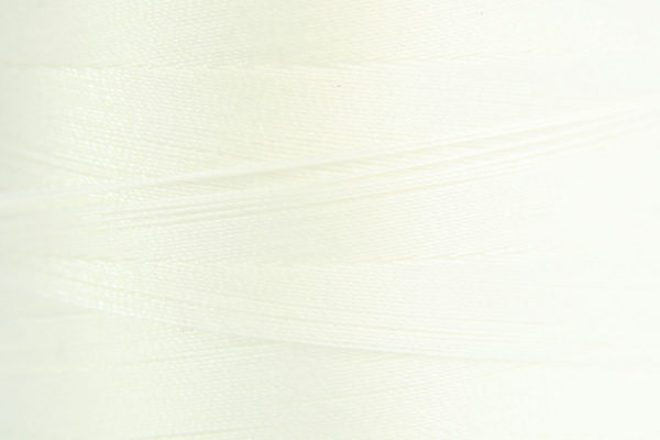 White Spider-Lon Waxed Bead Weaving Thread and Needle