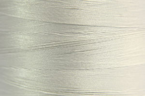 Light Grey Spider-Lon Waxed Bead Weaving Thread and Needle