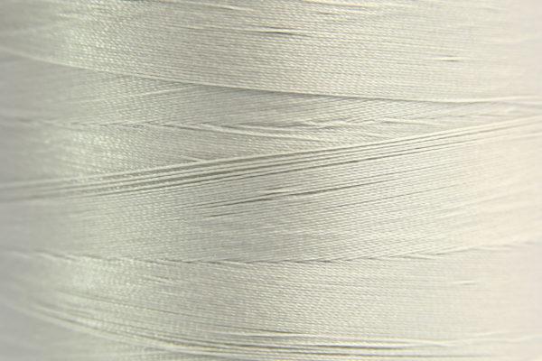 Light Grey Spider-Lon Waxed Bead Weaving Thread and Needle