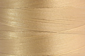 Light Gold Spider-Lon Waxed Bead Weaving Thread and Needle