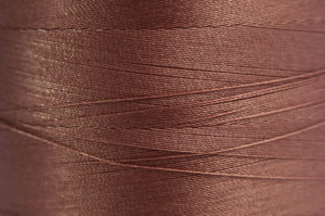 Copper Spider-Lon Waxed Bead Weaving Thread and Needle