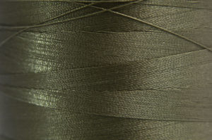 Olive Green Spider-Lon Waxed Bead Weaving Thread and Needle