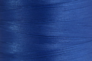 Deep Blue Spider-Lon Waxed Bead Weaving Thread and Needle