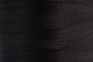 Black Spider-Lon Waxed Bead Weaving Thread and Needle