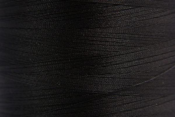Black Spider-Lon Waxed Bead Weaving Thread and Needle