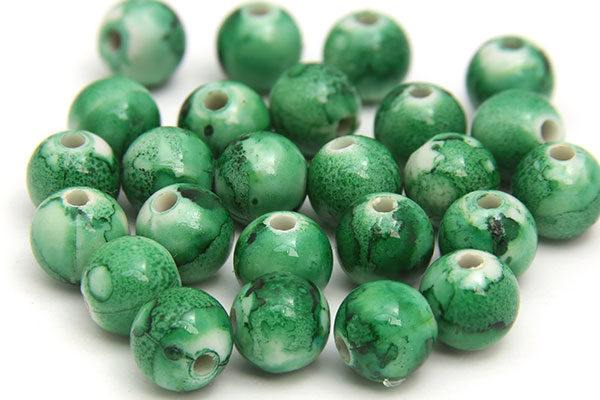 Fern Green Jupiter Beads