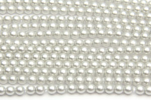 4mm Artic Silver Frosted Preciosa Glass Pearl Beads