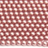 4mm Blush Frosted Preciosa Glass Pearl Beads