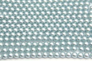 4mm Pastel Sky Blue Frosted Preciosa Glass Pearl Beads