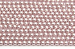 4mm Pastel Lilac Frosted Preciosa Glass Pearl Beads