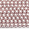 6mm Pastel Lilac Frosted Preciosa Glass Pearl Beads