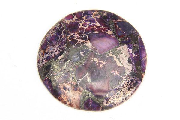 Purple Sea Sediment Jasper Round Pendant