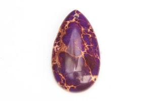 Purple Sea Sediment Jasper Tear Drop Pendant