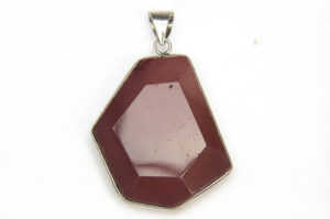 Red Mookaite Facetted Pebble Pendant