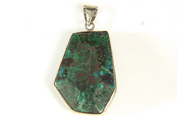 Chrysocolla Facetted Pebble Pendant