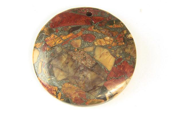 Autumn Imperial Jasper Round Pendant
