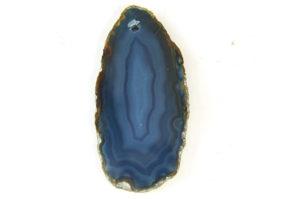 Blue Banded Agate Rough Cut Pendant
